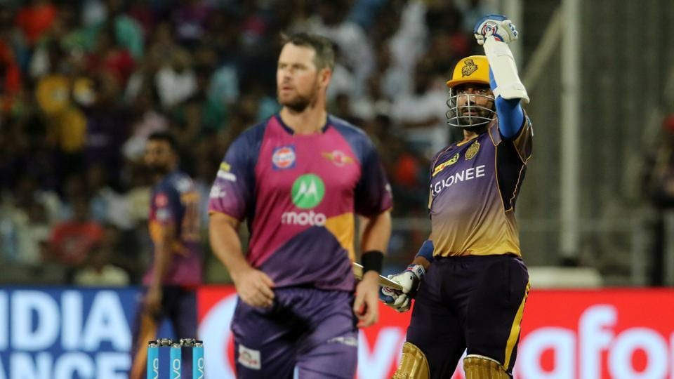 Uthappa and Gambhir's 158-run stand helped KKR race away to a seven-wicket win and go on top of the table in the 2017 Indian Premier League. (BCCI)
