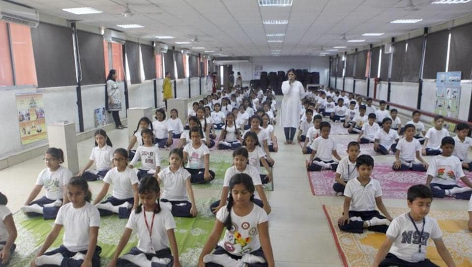 The morning assembly for the students of primary classes will end with the national anthem followed by a yoga session and 'Dainik Bal Sabha' where children will recite poems, present songs and thought of the day.