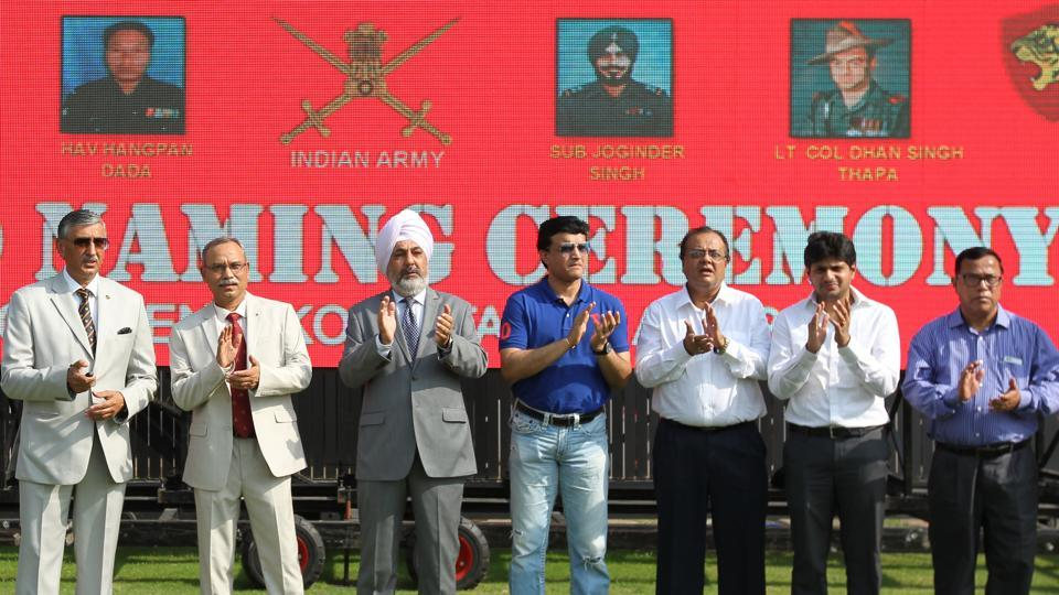 Ahead of the match, a new stand dedicated to Indian army martyrs was unveiled at the Eden Gardens. (BCCI)