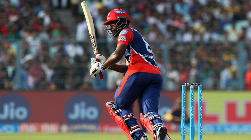 Sanju Samson scored 60 for Delhi Daredevils against Kolkata Knight Riders in an Indian Premier League (IPL) 2017 match.