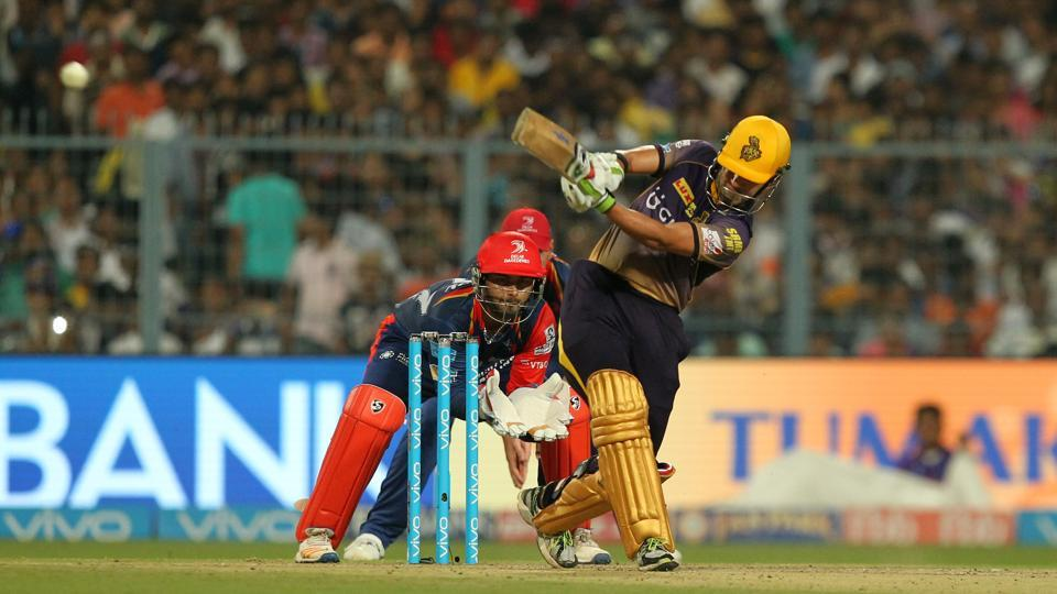 Kolkata Knight Riders skipper Gautam Gambhir scored an unbeaten 71 to guide his side to a seven-wicket win over Delhi Daredevils in their 2017 Indian Premier League (IPL) match at the Eden Gardens in Kolkata. (BCCI)