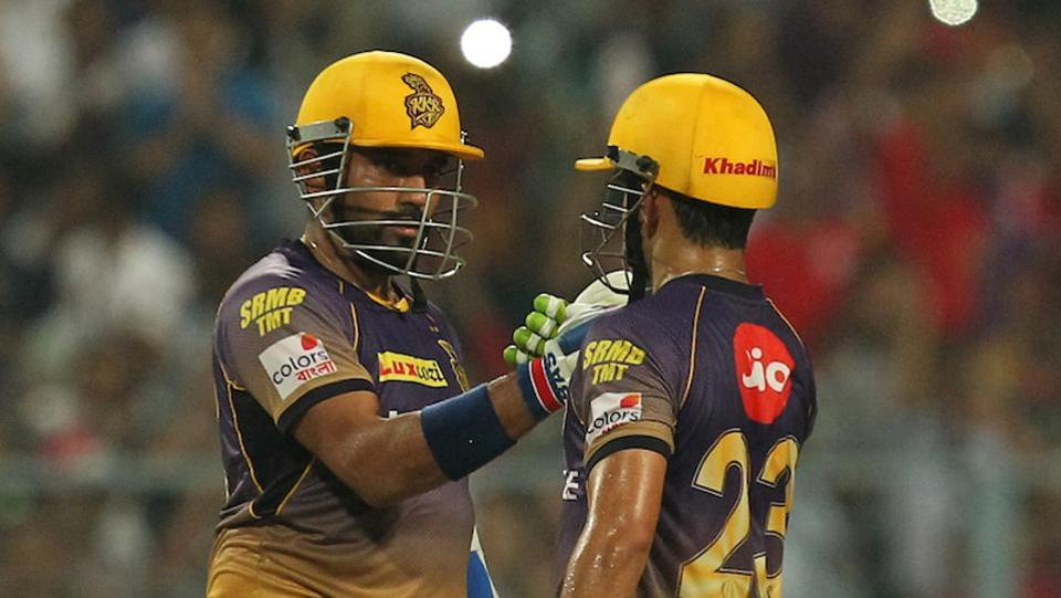 Uthappa combined with KKR skipper Gautam Gambhir (R) and scored 59 as the cruised towards an easy win. (BCCI)