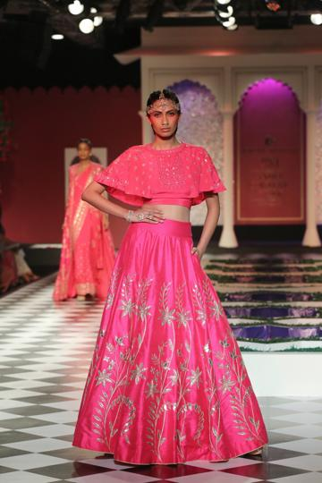 A model in an Anita Dongre creation. The designer will be opening two stores in New York.