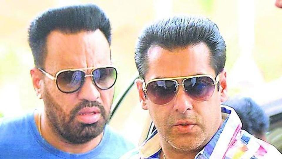 Salman Khan (right) with Shera.