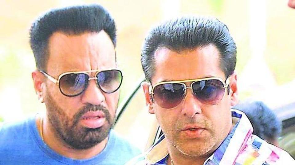 Salman Khan (right) with Shera.