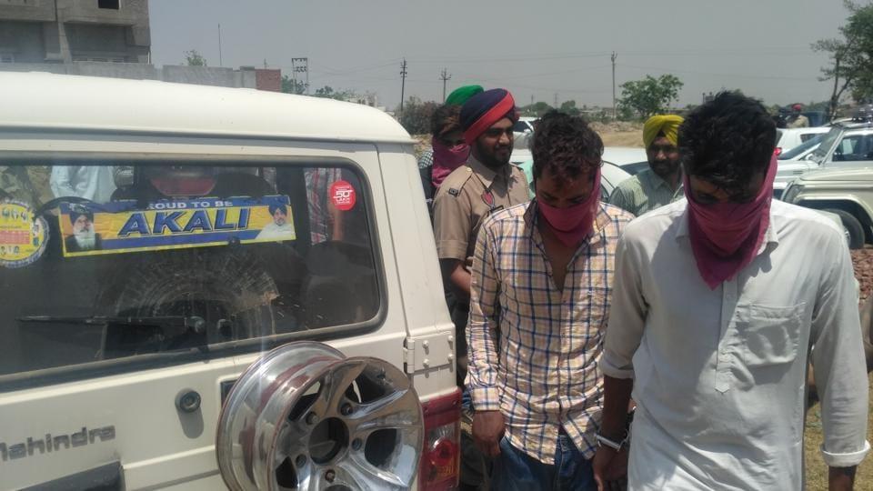 The accused in police custody in Sunam on Thursday.