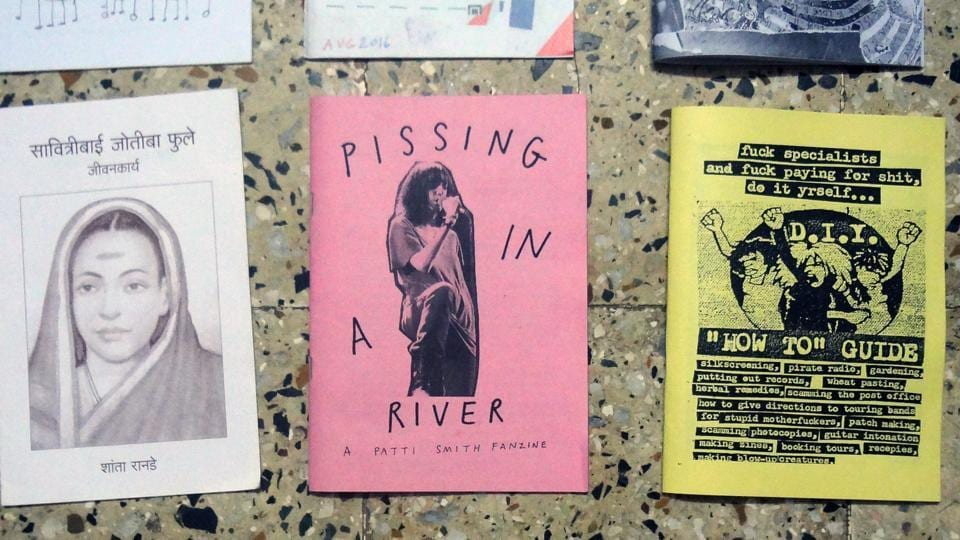 A selection of zines from the exhibition