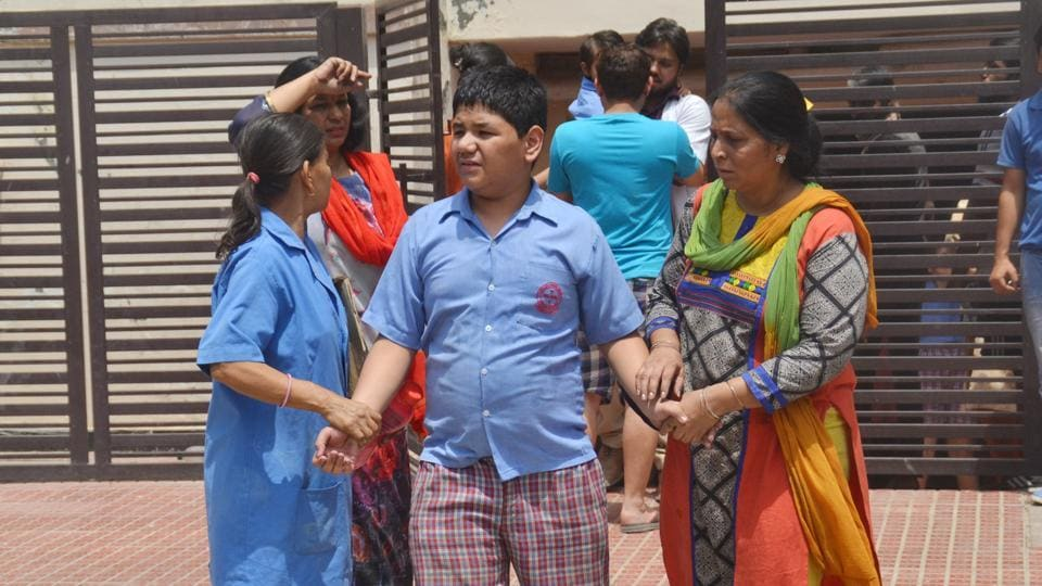 Nearly 90 specially-abled students of a rehabilitation centre in Ghaziabad's Indirpauram had a narrow escape due to timely action by fire officials after a major blaze broke out at an electrical panel of the building on Friday noon.  It was a major rescue effort by more than 20 firemen and officials who had to rush inside the building and rescue children as they could not move on their own.