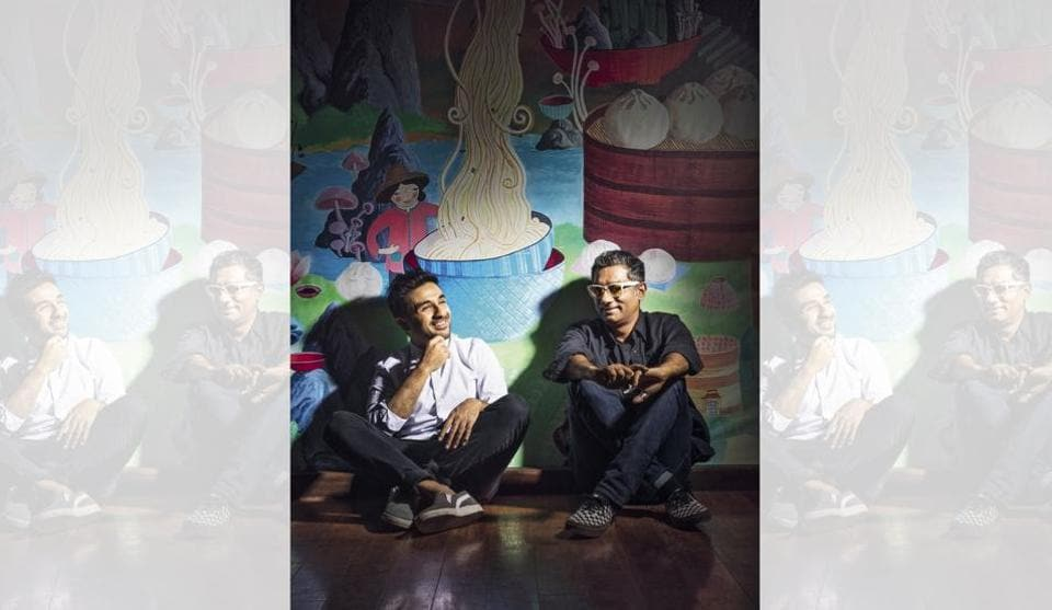 Creative squatting with Vir and Q: Earlier this month, Vir Das (left) became the first Indian stand-up comic to bag a Netflix original