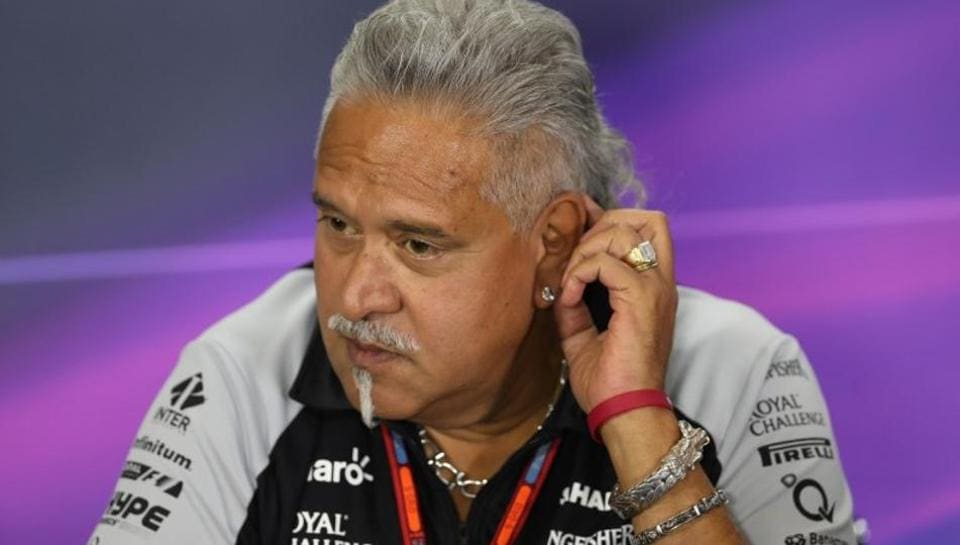 In this file photo, Force India team co-owner Vijay Mallya can be seen at a press conference. He was arrested recently after he appeared at a central London police station. The Westminster magistrates court granted him bail on a £650,000 bond and set the next hearing of his case for May 17.