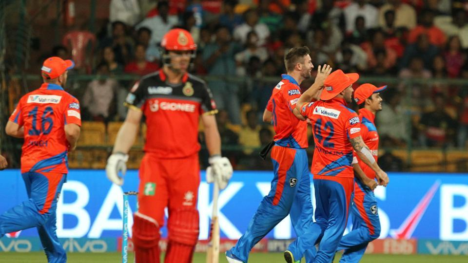 Andrew Tye, Gujarat Lions' best bowler in the tournament so far, struck off successive deliveries (Chris Gayle and Travis Head) as the hosts crumbled from 21/0 to 22/3.  (BCCI )