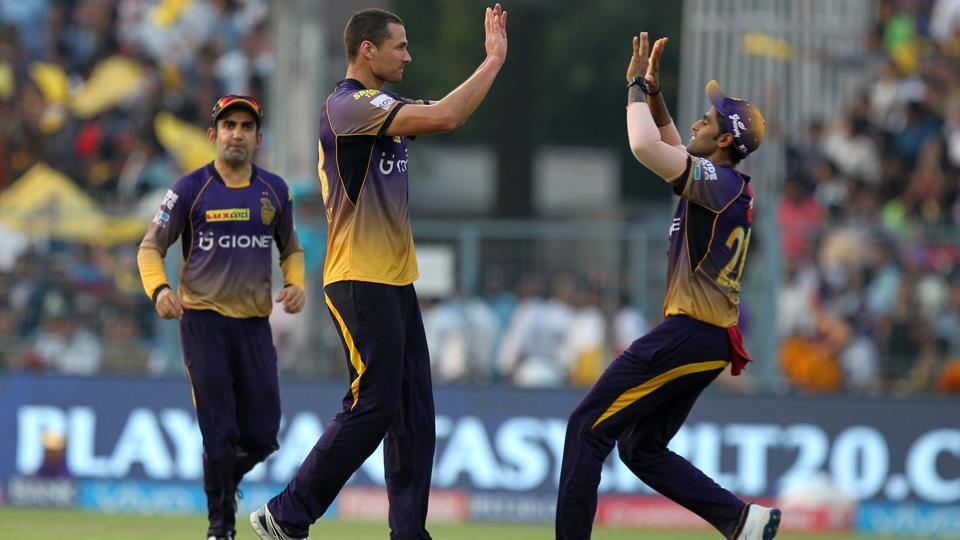 Guided by Coulter-Nile, KKR restricted DD to a total of 160/6. (BCCI)
