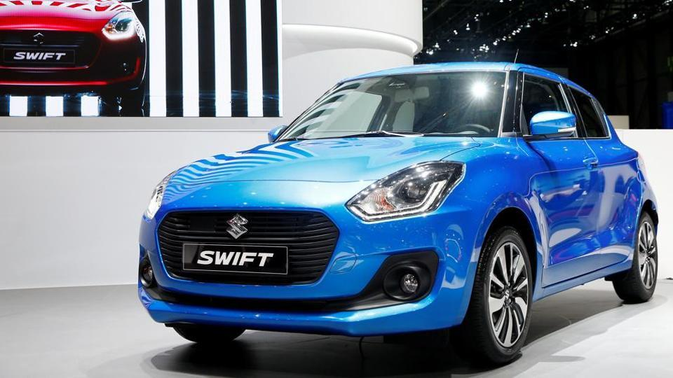 A Suzuki Swift car is seen during the 87th International Motor Show at Palexpo in Geneva, Switzerland March 8, 2017.