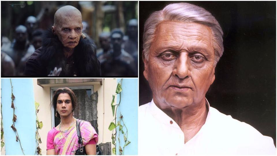 Kamal Haasan in Hindustani and Rajkummar Rao in Raabta and Ami Sairabanu.