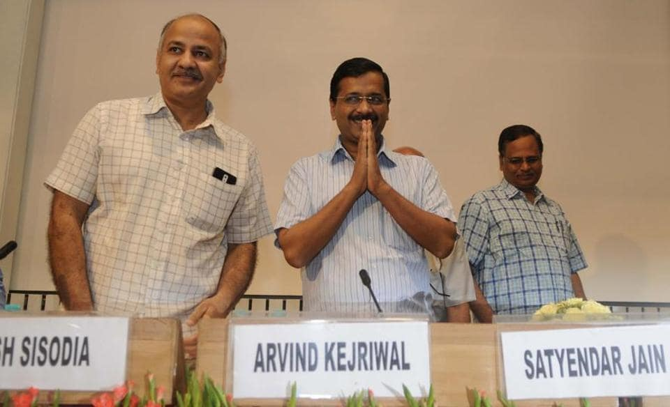 Delhi chief minister Arvind Kejriwal with deputy chief minister Manish Sisodia and minister Satyendra Jain.  In his impatience to win, Kajriwal kept compromising on the very principles he was flaunting to enter the electoral fray. That's why many of his party's ministers and MLAs with criminal links had to go to jail