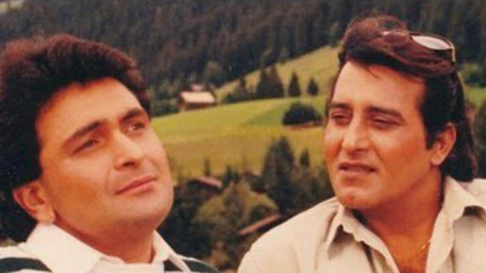 Rishi Kapoor and Vinod Khanna worked together in Chandni.