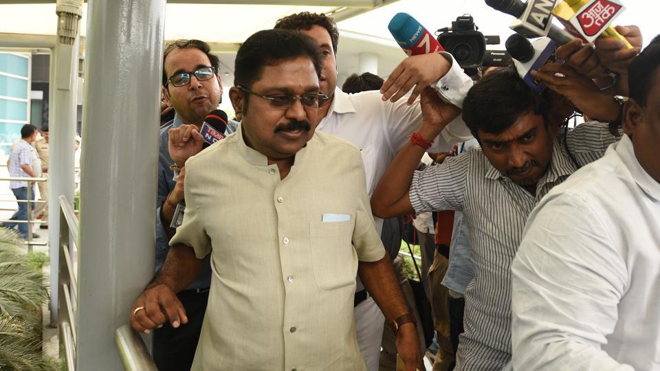 Police have arrested TTV  Dinakaran and his aide Mallikarjun for allegedly paying middleman Sukesh Chandrashekhar to get the party's disputed two leaves symbol by bribing election officials.