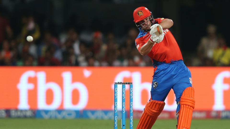 AaronFinch's 34-ball 72 and Andrew Tye's three-fer helped Gujarat Lions seal a comfortable 7-wicket win over RoyalChallengers Bangalore in an IPL 2017 clash at the M Chinnaswamy Stadium.  (BCCI)