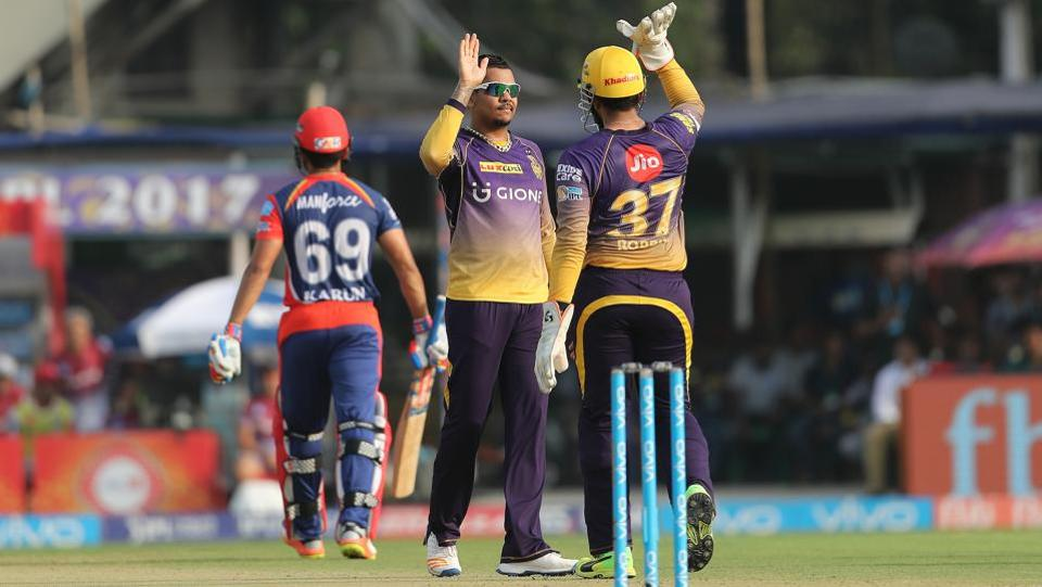 Sunil Narine struck early for KKR, removing Karun Nair. (BCCI)