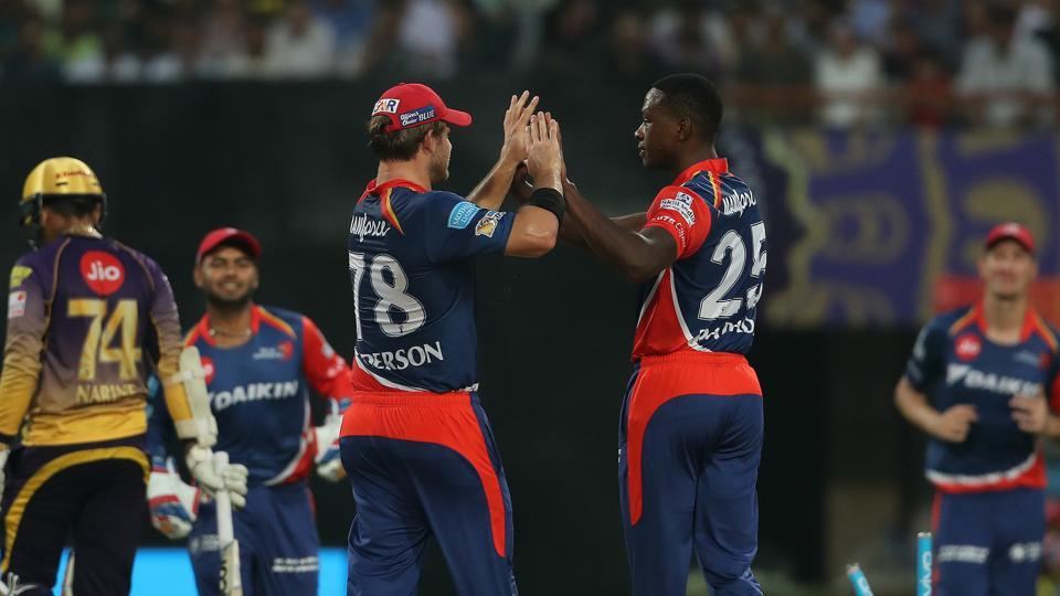 Kagiso Rabada gave Delhi Daredevils an early breakthrough, dismissing Sunil Narine. (BCCI)