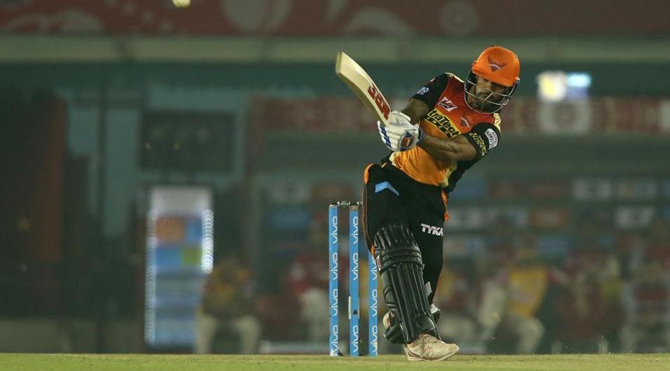 Shikhar Dhawan 48-ball 77 guided Sunrisers Hyderabad to a 26-run win over Kings XIPunjab at Mohali. Get full cricket score of KXIP vs SRH here
