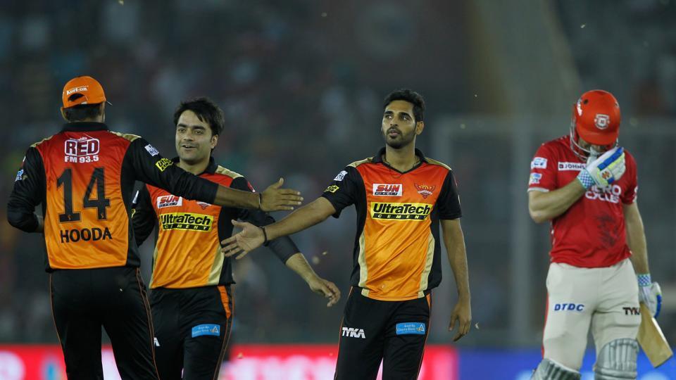 IPL 2017,live cricket score,Kings XI Punjab vs Sunrisers Hyderabad