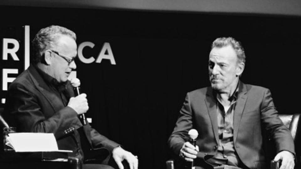 The Tribeca Film Festival conversation between Tom Hanks and Bruce Springsteen.
