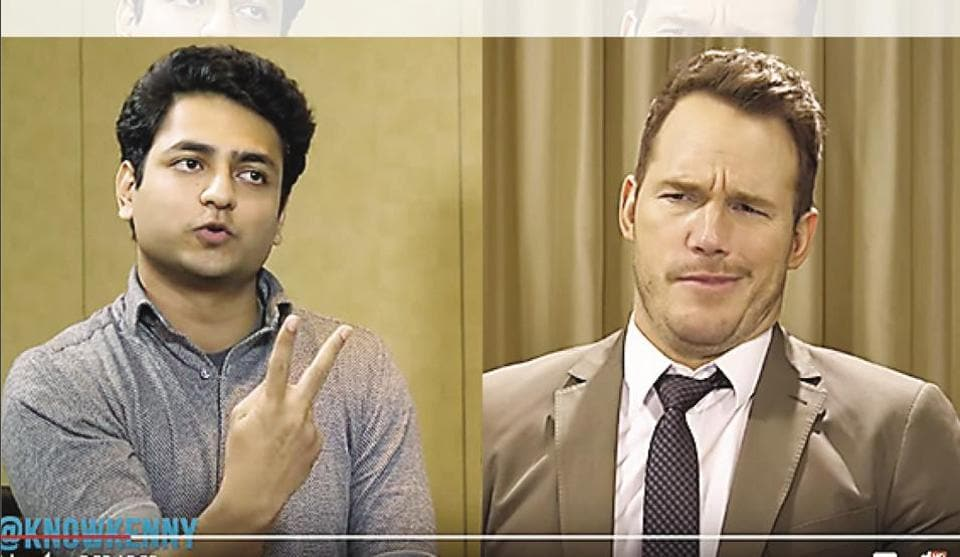 Comedian Kenny Sebastian meets Hollywood's  Chris Pratt