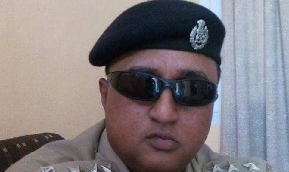 Senior Assam Police officer Anjan Bora who was arrested onSaturday for a slur on a BJPwoman MLA on Facebook.