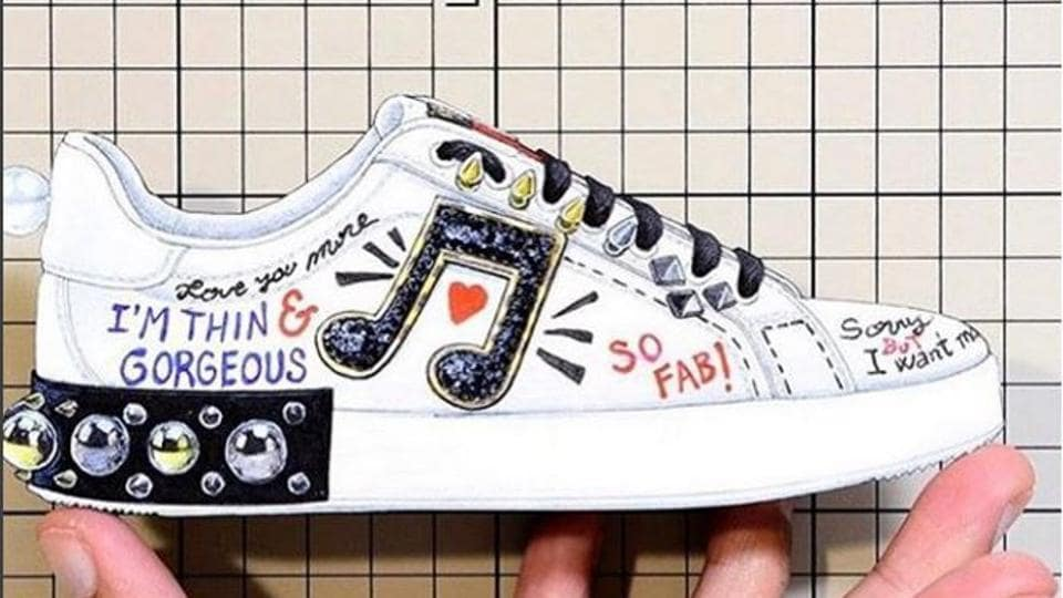 A new pair of shoes by Dolce & Gabbana has faced backlash on social media.