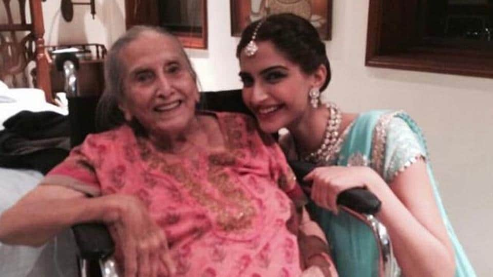 Sonam Kapoor shared a heartfelt message with a picture of her grandmother.