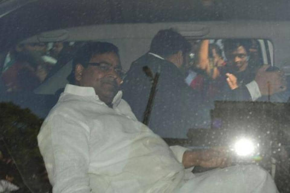 Gayatri Prajapati being taken for medical checkup after his arrest in Lucknow on March 15.