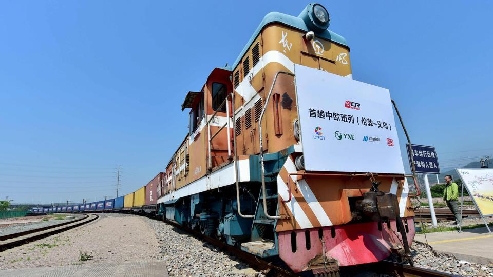 London-China freight train,Modern Silk Route,Yiwu