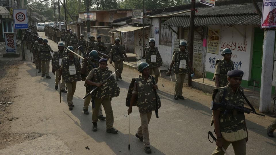 Armed forces were deployed in Dhamnagar to maintain law and order and prevent any flare up.
