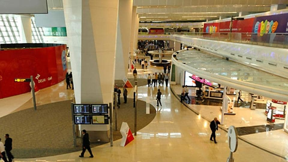 The departure lounge of T1 handles more passengers than it is designed for. A public accounts committee draft report says commercial establishments in T1, T3 set up ignoring CISF red flags.