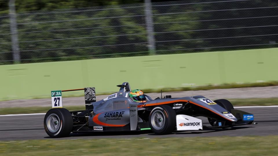 Jehan Daruvala of Carlin team in action during the qualifying session for Race 1 the FIA Formula 3 European Championship second round at Monza in Italy onFriday. The Indian finished Race 1 in second position.