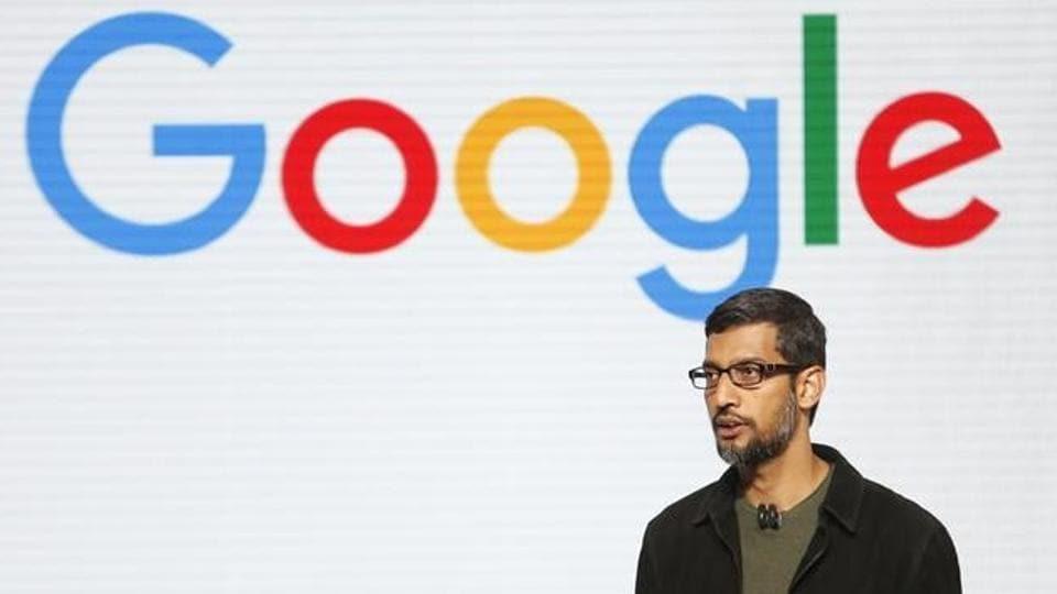 Google CEO Sundar Pichai speaks during the presentation of new Google hardware in San Francisco, California.