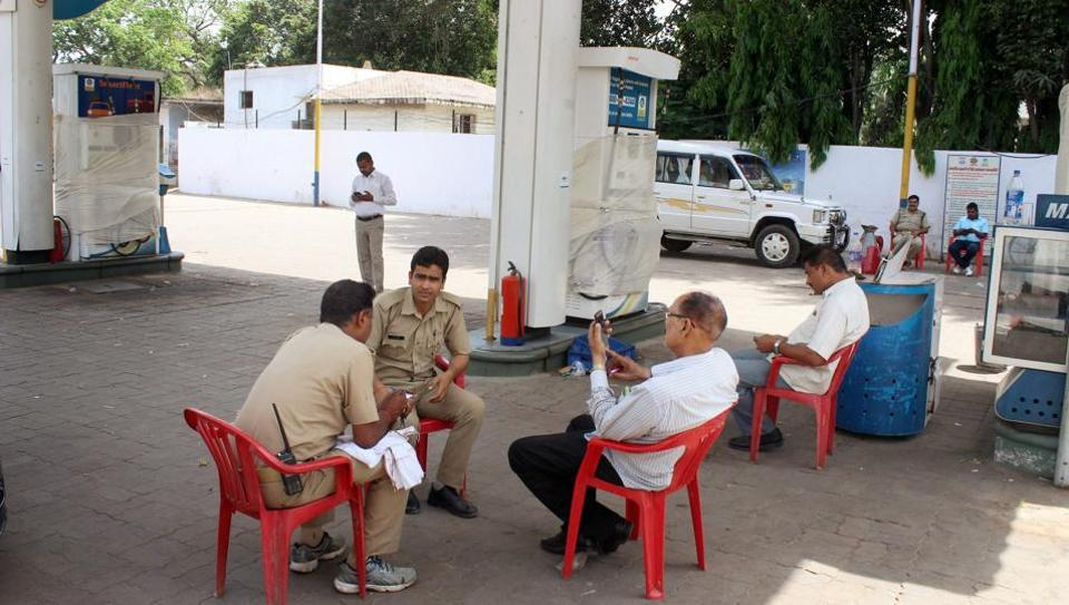 A petrol pump that was sealed for fraud in Lucknow on Friday.