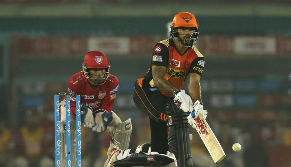 Half-centuries from David Warner, Shikhar Dhawan and Kane Williamson and three wickets each from Ashish Nehra and Siddarth Kaul guided Sunrisers Hyderabad to a 26-run win over Kings XI Punjab in an IPL 2017 game at Mohali.  (BCCI )