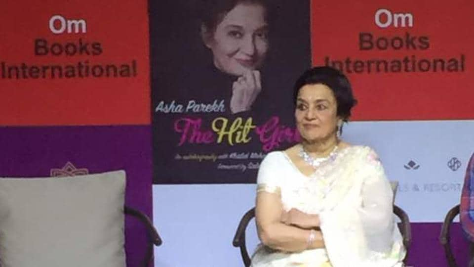 Veteran Bollywood actor Asha Parekh at the launch of her biography, The Hit Girl, in Delhi on Sunday.