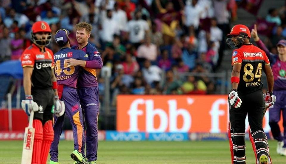 Lockie Ferguson picked up 2/7 as Rising Pune Supergiant beat Royal Challengers Bangalore by 61 runs in an IPL 2017 game on Saturday.