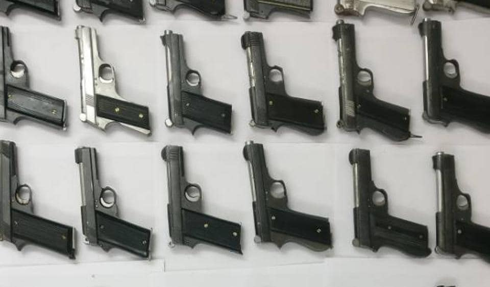 The semi-automatic pistols were manufactured in illegal factories of Bihar's Munger and Madhya Pradesh. The guns are supplied to criminals in Delhi-NCR and western UP towns.