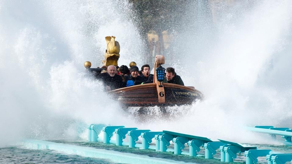 The Atlantica SuperSplash of MACK Rides is pictured at the theme park EUROPA PARK in Rust near Freiburg, Germany April 28, 2017.  (Ralph Orlowski  / REUTERS)