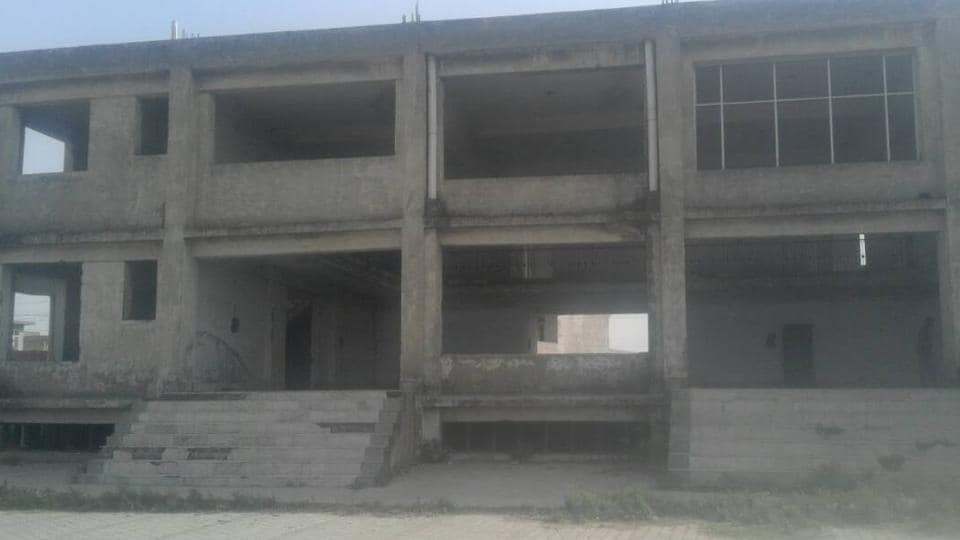 The incomplete and abandoned community centre in Sirhind.