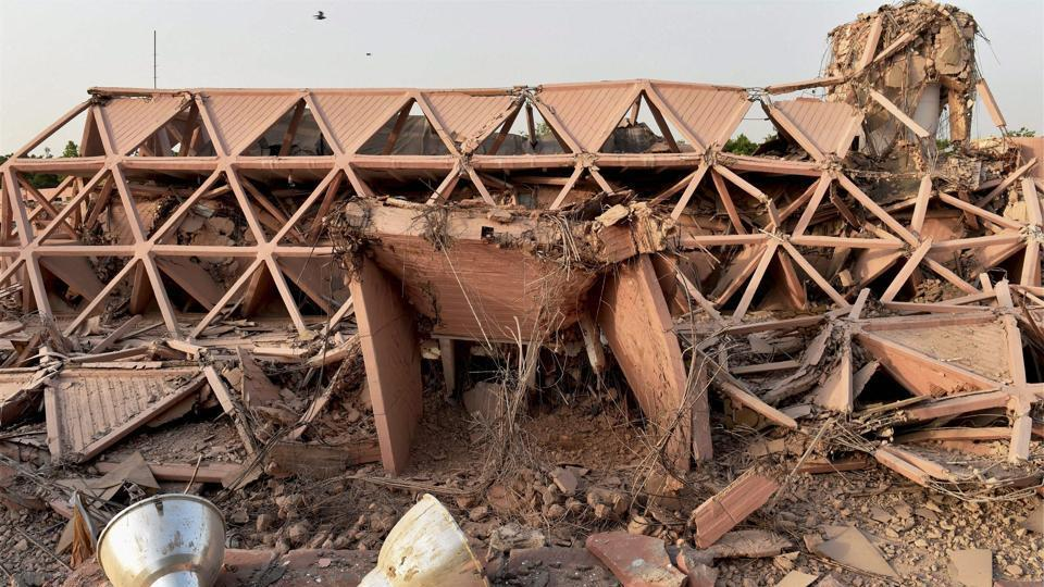 Built in 1972, the iconic Hall of Nations a permanent exhibition venue and a 20th-century heritage site at Pragati Maidan was demolished on April 23. This was the country's first pillar-less building.