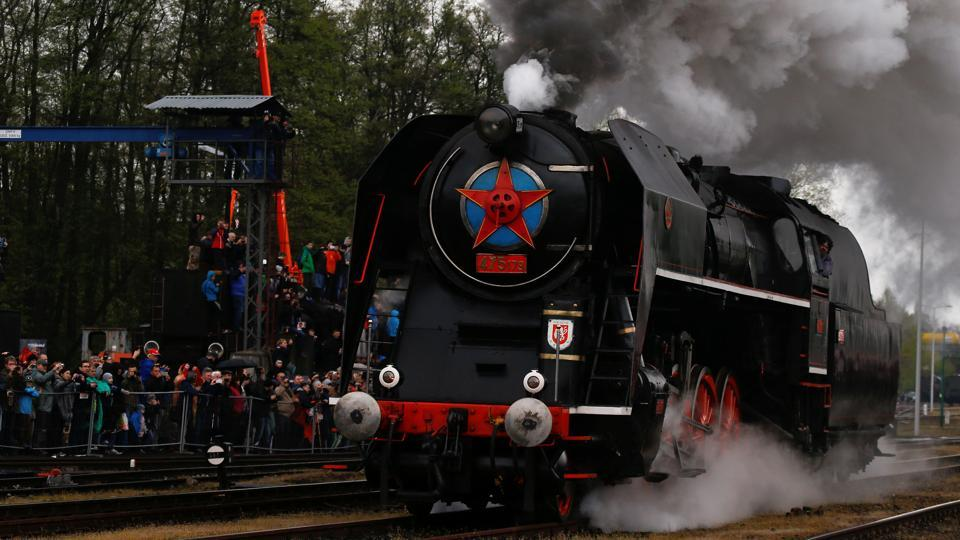 Smoke and steam marks the 24th locomotive parade in Wolsztyn