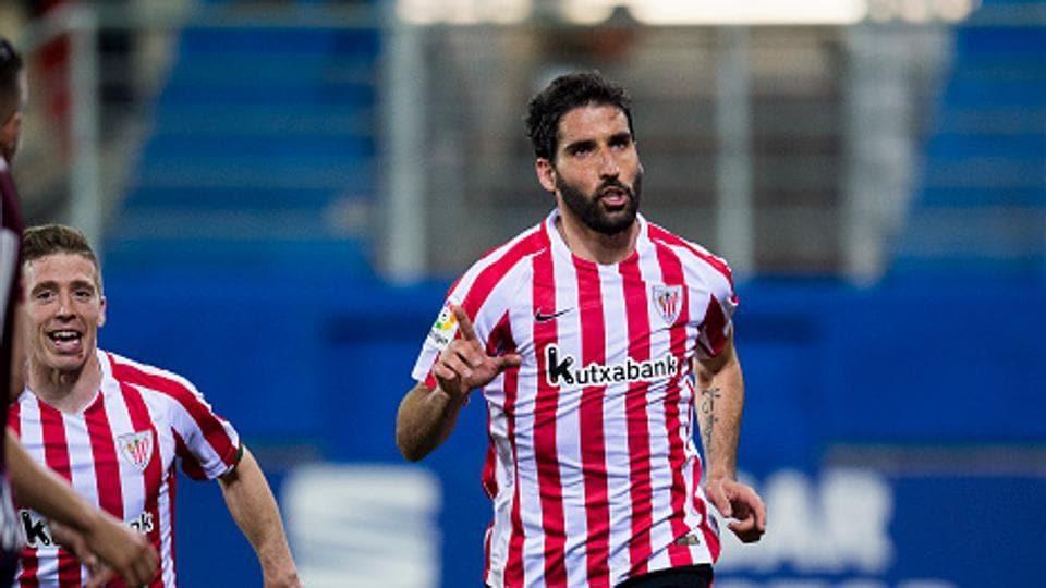 Raul Garcia of Athletic Bilbao scored twice in his club's victory over Celta Vigo in the La Liga on Sunday.
