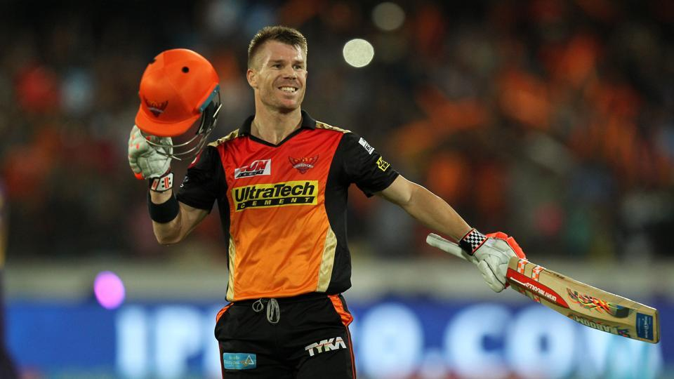 David Warner blasted his third Indian Premier League (IPL)century as Sunrisers Hyderabad (SRH)defeated Kolkata Knight Riders (KKR)to secure their third spot in the 2017 edition of the tournament.