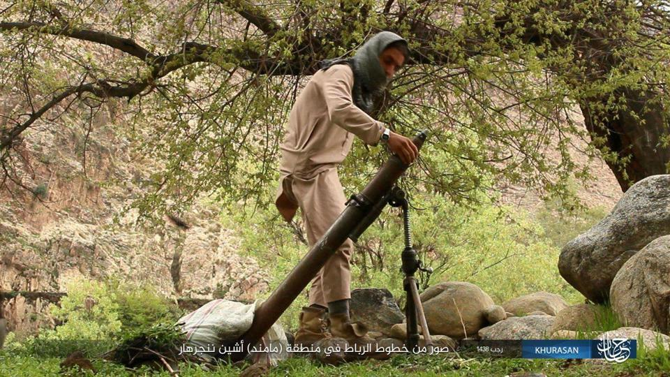 Screen grab from a propaganda video made by the Khurasan wing of the Islamic State, which operates in Afghanistan.