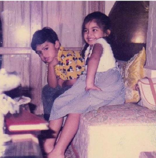 Arjun Kapoor and Sonam Kapoor share a picture from their childhood days.